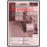 Instruction Manual, Juki MO-654DE
