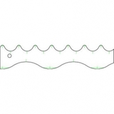 Squiggle 1 Ruler, Quilter's Rule