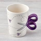Purple Scissor Sewing Mug