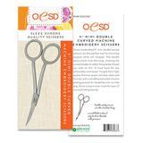 "Double Mini Curved Embroidery Scissors 4"" #OESD748C"