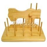Wooden Spool Organizer (10 Spools)