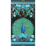 "Chong-a Hwang, Enchanted Plume, 24"" Fabric Panel, Metallic"