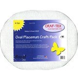 Bosal Oval Placemat Craft Pack - 4pk