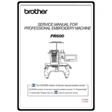 Service Manual, Brother PR-600