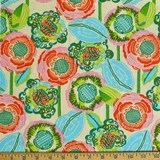 Amy Butler, Bright Heart, Coco Bloom, Bisque Fabric