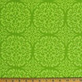 Heather Bailey, GingerSnap, Snowflake, Green Fabric