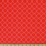 Heather Bailey, GingerSnap, Snap Daisy, Red Fabric