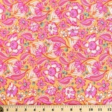 Tula Pink, Chipper, Wild Vines, Sorbet Fabric