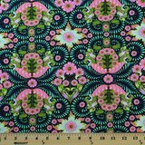 Tula Pink, Slow & Steady, Tortoise, Strawberry Kiwi Fabric