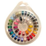 40pk Class 15 Prewound Bobbins with Holder - Assorted Colors