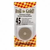 Gold Titanium 45mm Rotary Blades (2pk)