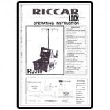 Instruction Manual, Riccar RL-340