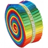Robert Kaufman, Kona Fabric Rolls (41 strips) - Multi