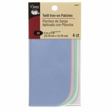 Dritz Twill Iron On-Patches - 4ct Assorted Colors