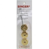 Class 15 Gold-Plated Bobbins (3pk), Singer #S02052