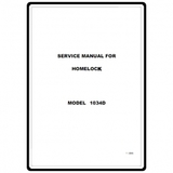 Service Manual, Brother 1034D