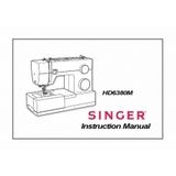 Instruction Manual, Singer HD6380