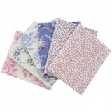 Vintage Tilda, Old Rose Pink/Blue Fat Quarter Bundle (6pk)