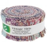 Vintage Tilda, Plum Garden Fabric Roll (40pc)