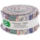 Vintage Tilda, Old Rose Fabric Roll (40pc)