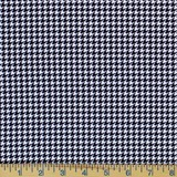 Timeless Treasures, Houndstooth, Black and White Fabric