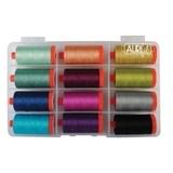 Aurifil, 12 Spool, Simply Ombre Thread Collection - 1422 yds (50wt)