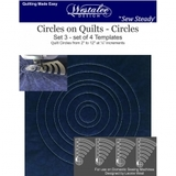 Westalee Circles on Quilts Template Set (4pc)
