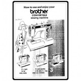 Instruction Manual, Brother Convertible XL-3001