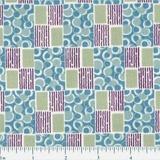 Andover Fabrics, Downton Abbey, Edith's Patchwork Fabric - Blue