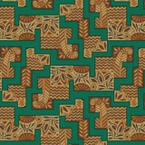 Downton Abbey, The Egyptian Collection Nile River Fabric - Teal