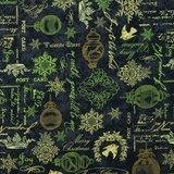 Wilmington, Christmas in Bloom Fabric, Black