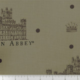 Downton Abbey Large Logos Fabric - Gray
