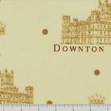 Downton Abbey Large Logos Fabric - Cream