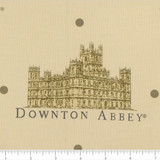 Downton Abbey Large Logos Fabric - Beige