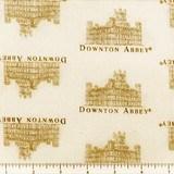 Downton Abbey Small Logos Fabric - Cream