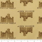 Downton Abbey Small Logos Fabric - Beige