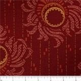 Downton Abbey Lord & Lady Dahlia Red Fabric