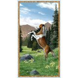 Wilmington, Roaming Wild Horse Fabric Panel
