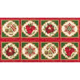 Robert Kaufman, Holiday Flourish, Holiday Poinsettia Fabric Panel
