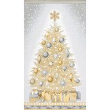 Robert Kaufman, Winter's Grandeur, Champagne Christmas Tree Fabric Panel
