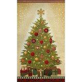 Robert Kaufman, Winter's Grandeur, Holiday Christmas Tree Fabric Panel