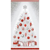 Robert Kaufman, Winter's Grandeur, Winter Christmas Tree Fabric Panel