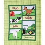 John Deere Farm Animal Quilt Top Fabric Panel