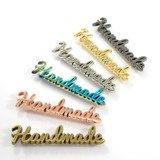 """Handmade"" Metal Bag Label  (Script Style)"