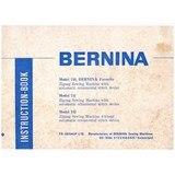 Instruction Manual, Bernina 740