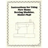 Instruction Manual, Janome and Newhome 640