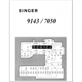 Instruction Manual, Singer 7050