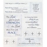 Inspired Journey, Scripture Fabric Panel, Dove