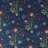 Henry Glass, My Back Porch, Folk Flowers Fabric