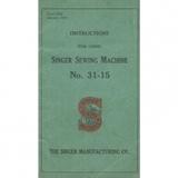 Instruction Manual, Singer 31-15